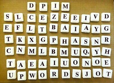 Scrabble Upwords 3D letters plastic tiles 1988 replacement game 64 piece lot
