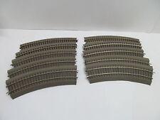 MES-49500Roco Line H0 10 St. Gleise mit Bettung mit Gebrauchsspuren,
