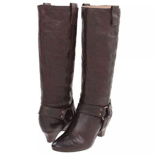 marchio famoso FRYE Steffi Harness Dark Marrone Leather stivali stivali stivali Dimensione 9.5 (Originally  368.00) NWOB  più economico