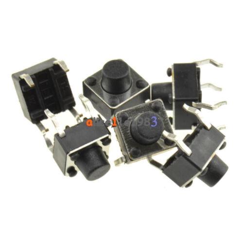 100PCS 6x6 3.1mm-13mm SPST Mini Micro Momentary Tactile Push PCB Button Switch