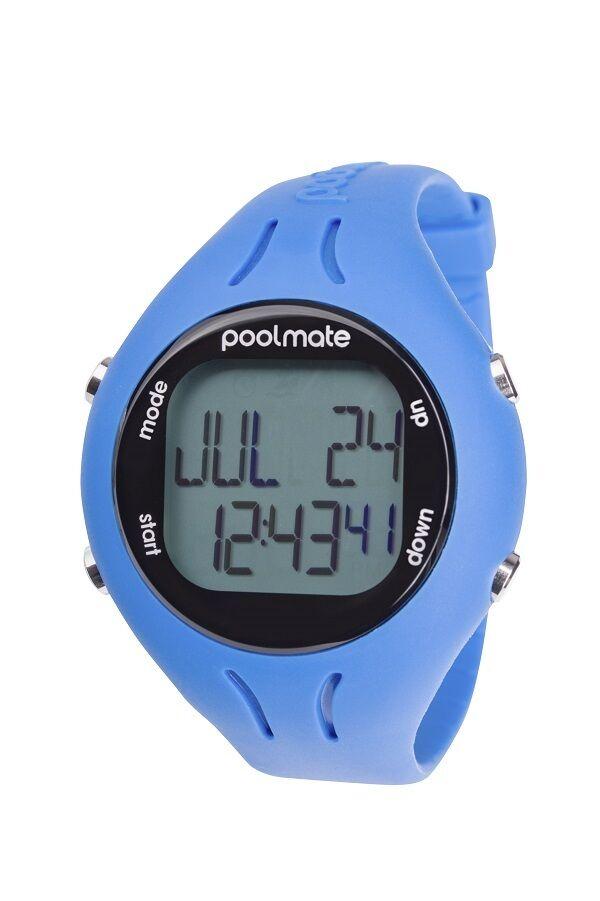Nueva computadora de natación Swimovate Poolmate 2 Azul Reloj Contador De Vuelta Piscina Mate