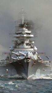 Plaque métal  bateau de guerre  30 X 20 CM