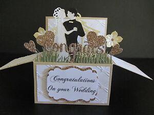Handmade-card-3D-Wedding-Card-in-a-box-Bride-amp-Groom