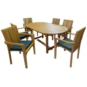 KYOTO GENUINE INDONESIAN TEAK WOOD SEATER FIXED DINING TABLE - Indonesian teak dining table
