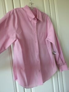 Lovely-Pink-Women-s-Ladies-Foxcroft-Long-Sleeve-Wrinkle-Free-Blouse-Size-12
