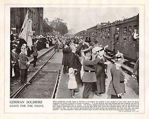 1914 Imprimé Première Guerre Mondiale ~ Allemand Soldats Laisseront pour L' sGEBxoRF-09153911-677705657
