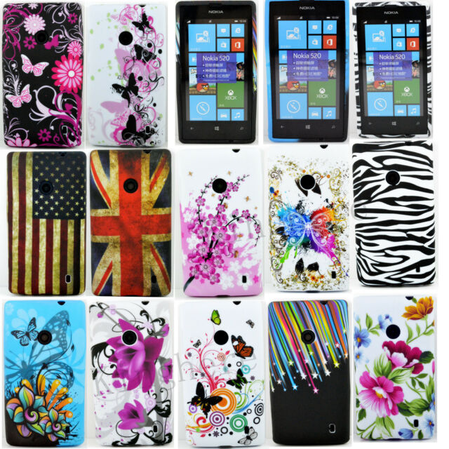Amazing Soft Rubber Silicone Gel Tpu Phone Skin Cover Case For Nokia Lumia 520