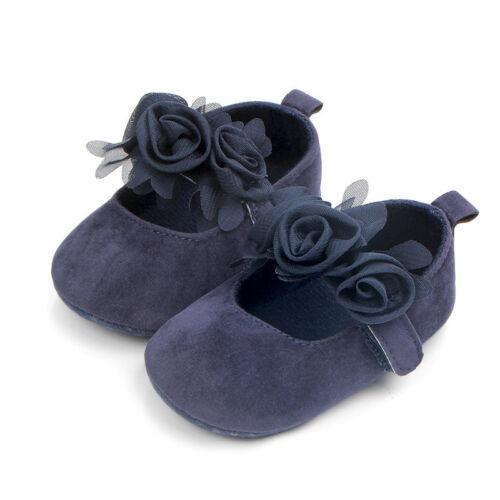 Newborn Baby Toddler Girl Crib Shoes Pram Soft Sole Prewalker Anti-slip Sneakers