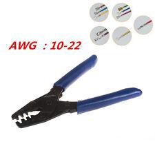 Terminal Crimp Tool Wire Harness Crimper Crimping Stripper Open Barrel 10-22 AWG