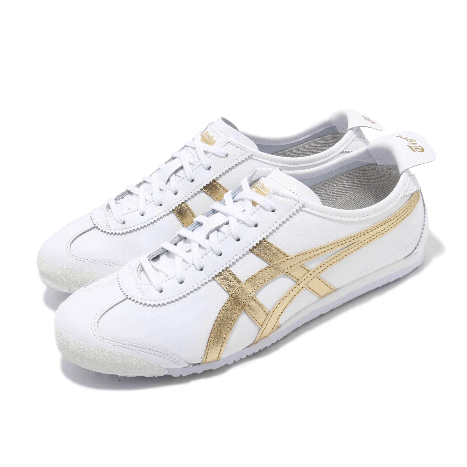 Asics Onitsuka Tiger MEXICO 66 De oro blancoo Hombre Mujeres Tenis para Correr 1183A499-101