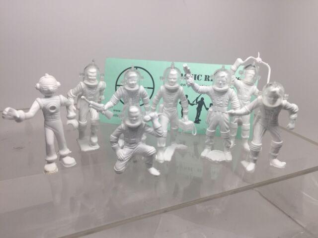 Marx Robot & Spacemen, Tom Corbett, Space Cadets Reissue, With Helmets!