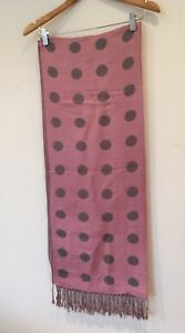 Red Pink Purple Grey Ladies Womens Reversible Spotty Winter Scarf FREE P/&P *