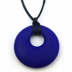 Best-Selling-Teething-Chew-Sensory-Silicone-Necklace-Pendant-Autism-Navy