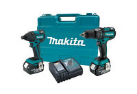 "Makita LXT 18V Li-Ion Brushless 1/2"" Hammer Drill Impact Combo Kit XT248 Refurb"