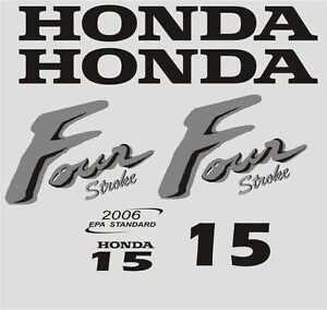 Adesivi motore marino fuoribordo Honda 15 hp  four stroke gommone barca
