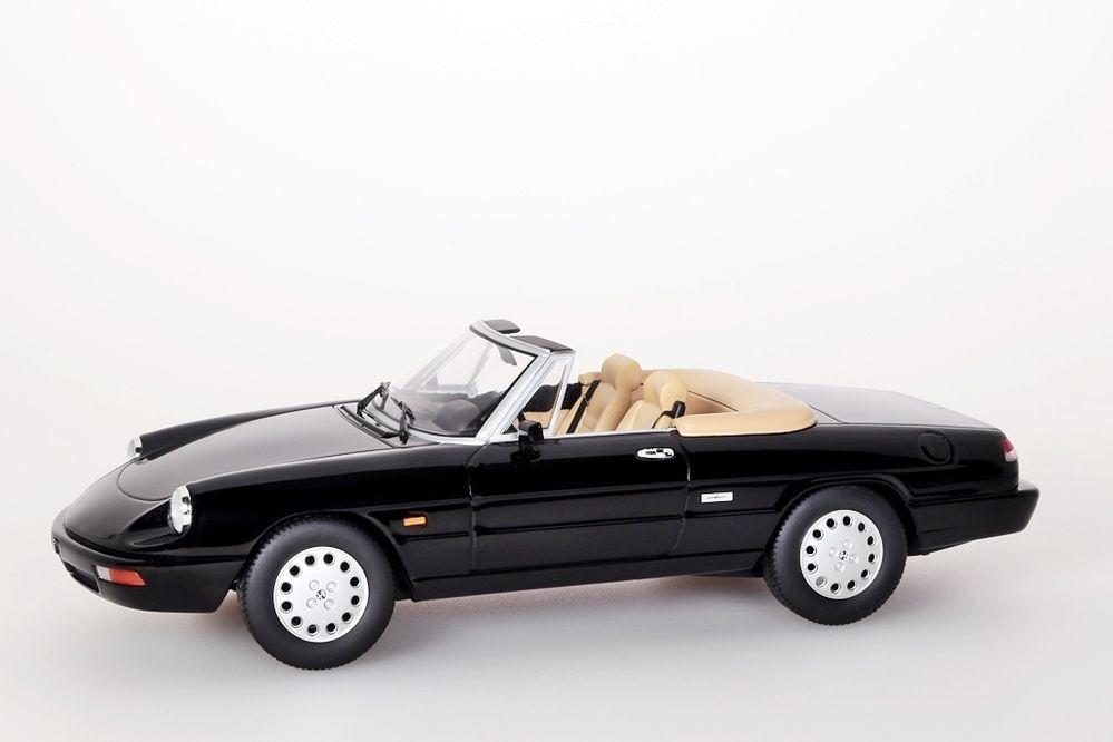 Alfa Romeo SPIDER 4, 1990 noir KK-Scale 1 18 Nouveau Neuf dans sa boîte