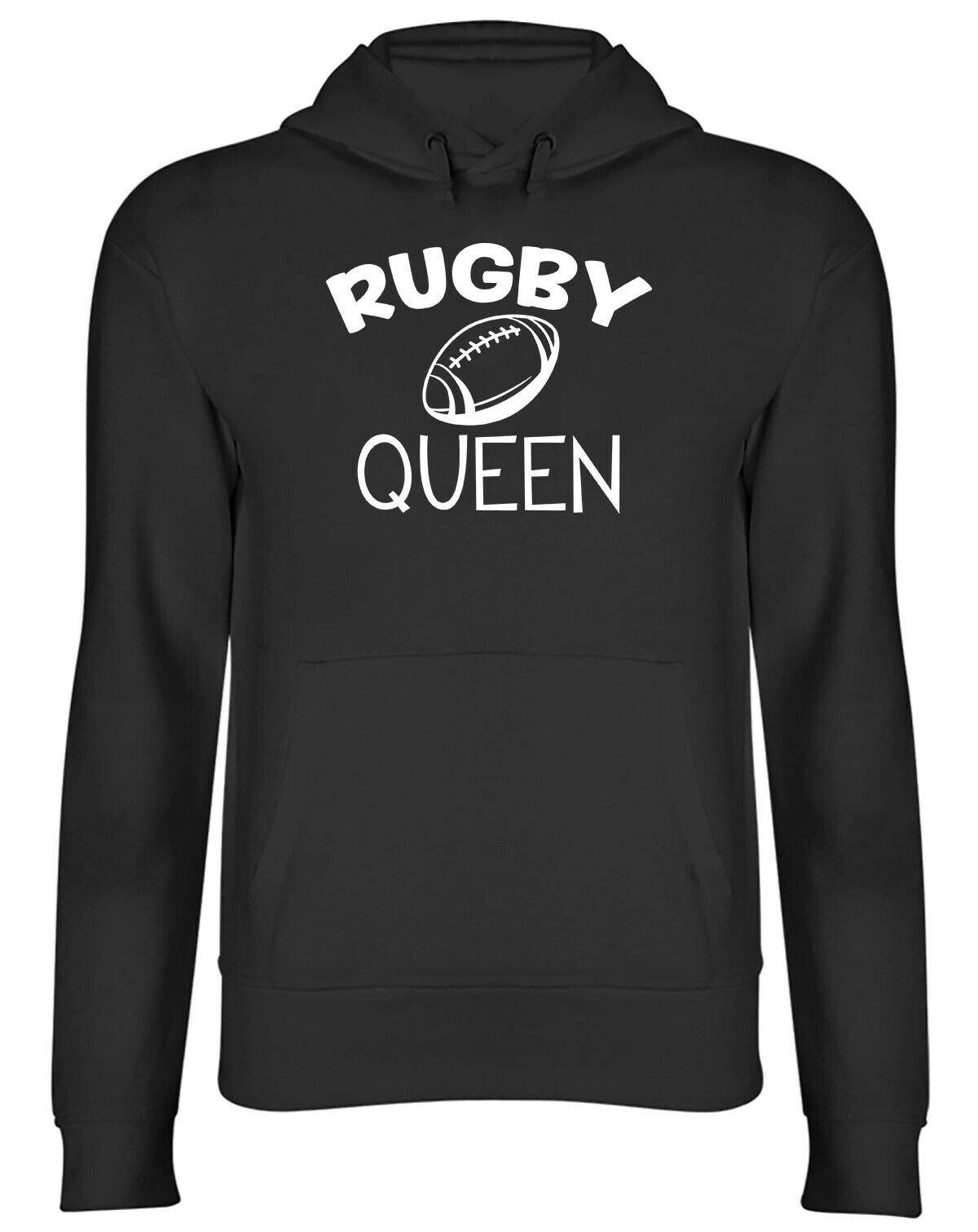 Rugby Queen Mens Womens Hooded Top Hoodie