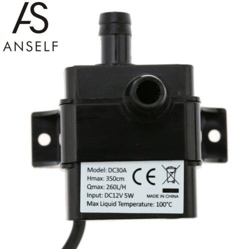 Anself Ultra-Quiet Mini DC5V//12V Micro Brushless Water Oil Pump Waterproof B3K5
