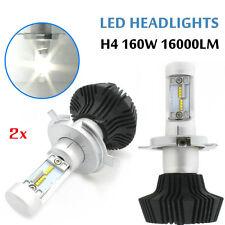 Pair 160W 16000LM LED Headlight Bulbs Philips H4 9003 Plug Bulb White 6000K Hi/L