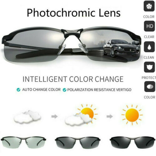 Photochromic Polarized Men Sunglasses Glasses Len Goggles Outdoor Sports Driving