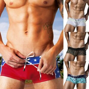 55a8d0ebd15 Image is loading Fashion-Men-Breathable-Swim-Trunks-Pants-Beach-Print-