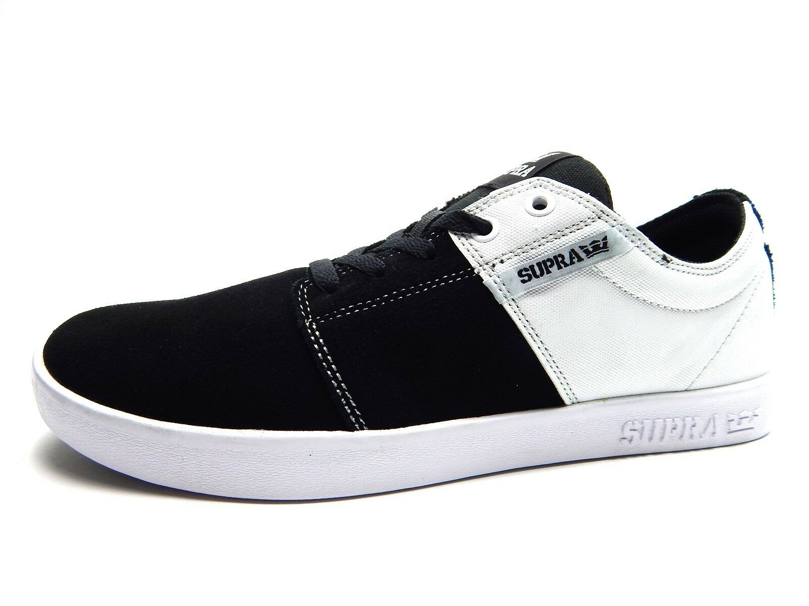 SUPRA STACKS II BLACK WHITE WHITE MEN SHOES