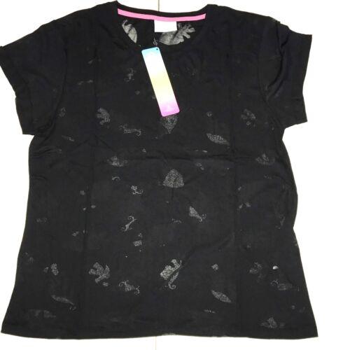 ladies  Ex Store trolls black burnout  T Shirts