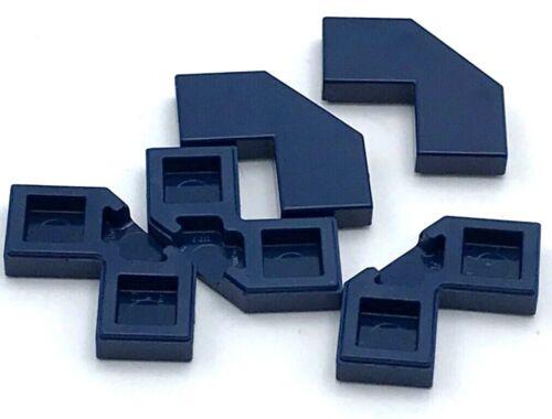 Lego 5 New Dark Blue Tiles Modified Facet 2 x 2 Corner with Cut Corner Parts