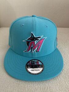 New Era Miami Marlins 9Fifty City Edition Colors Beach Vice Snapback 950 Hat NEW