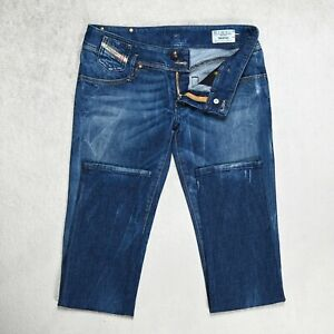 Damen Diesel Matic Jeans Größe w30 l32 Slim Fit Tapered Leg Stretch Wash 008sv