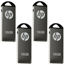 HP V220W Full Metal Finished USB 2.0 Flash Drive 16GB (Pack Of 4)