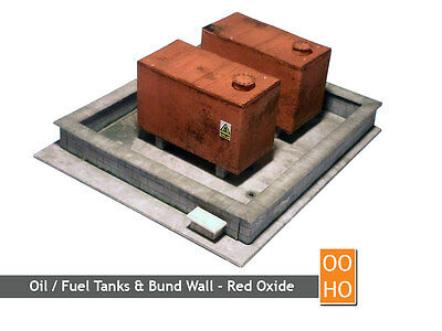 OIL / DIESEL TANKS & BUND WALL KIT OO GAUGE 1:76 SCALE FOR HORNBY MODEL RAILWAYS