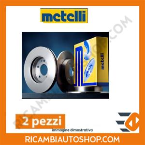 2 DISCHI FRENO ANTERIORI METELLI AUDI A4 1.9 TDI KW:96 2000/>2004 23-02 8E2, B6