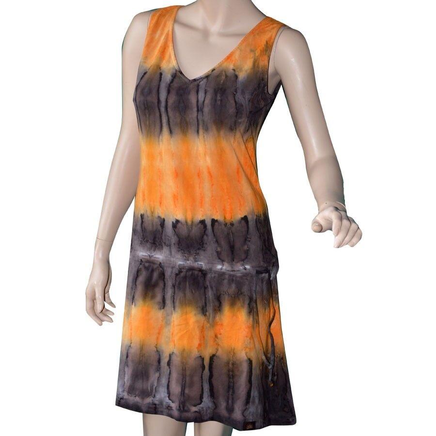 Kurzes Batik Kleid von Chapati Design Biobaumwolle Sommerkleid T-shirt Stoff