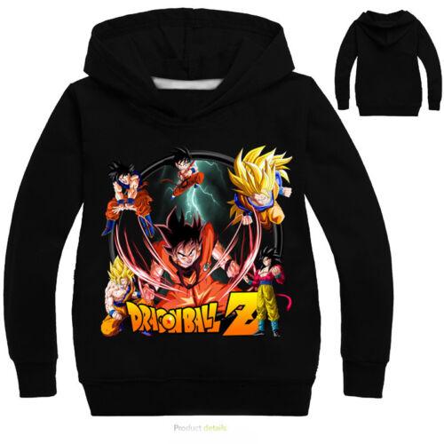 Boys Girls Kids Dragon Ball Cartoon Sweatshirt Hoodie Long Sleeve Shirt Clothing