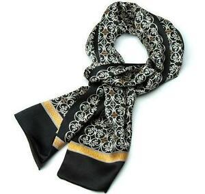 plusieurs couleurs de style élégant nouvelle arrivee Détails sur Luxe homme 100% soie longue écharpe Cravat foulard homme  nouveau élégant