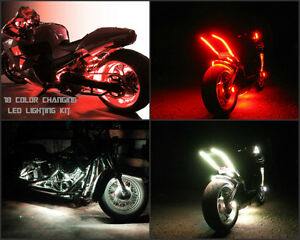 Wireless 18 Color Changing Led Vulcan S 650 Motorcycle 12pc Led Neon Light Kit