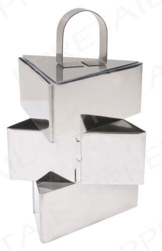 Pro acier inoxydable 3 pièces food triangle press set cuisson présentation rosti