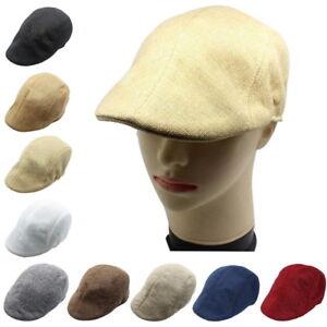 Unisexe-Homme-Femme-Retro-Beret-Chapeau-Decontracte-Casquette-Plate
