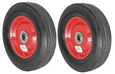 2pc 8 Replacement Solid Rubber Tire Amp Steel Wheel For Dolly Hand Truck Cart