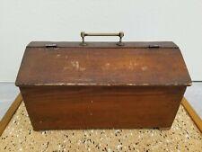 Vintageantique Carpenters Wood Tool Boxwooden Chest Primitiverusticfarmhouse