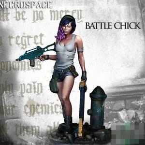 1-24-Hembra-soldado-batalla-Chick-Resin-Kits-Modelo-Sin-Pintar-GK-sin-montar