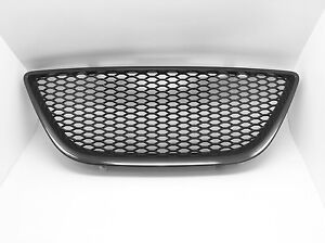 Black-Honeycomb-Mesh-badgeless-Grille-Grill-For-Seat-Ibiza-6J-mk5-2008-2011