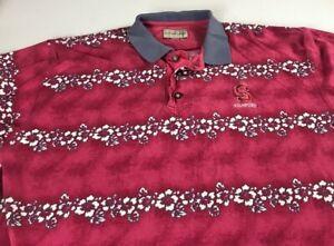 Stanford-Cardinal-Polo-Shirt-Fits-Mens-Large-Hawaiian-Floral-Student-Alumni-Golf
