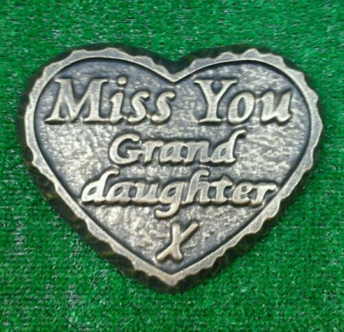Grandaughter large GRAVE SIDE TRIBUTE GARDEN MEMORIAL HANDMADE NATURAL STONE