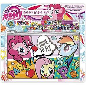 My Little Pony Deluxe 3 Tier Pen /& Pencil Case 46 Piece School Set Pink /& Purple