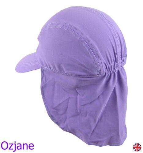 GIRLS UV 50 OZCOZ SWIM HAT SUN PROTECTION LEGIONNAIRE LILAC 7 TO 10 YRS