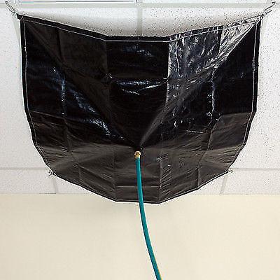 White Poly Sigman 20/' x 20/' Drain Tarp Roof Ceiling Leak Diverter Tarp New
