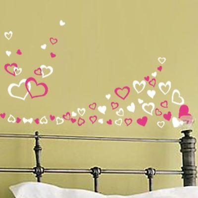 Jusqu/' à 90 Différents Coeurs Chambre Salle Mur Art Stickers Autocollants Fenêtre Enfants