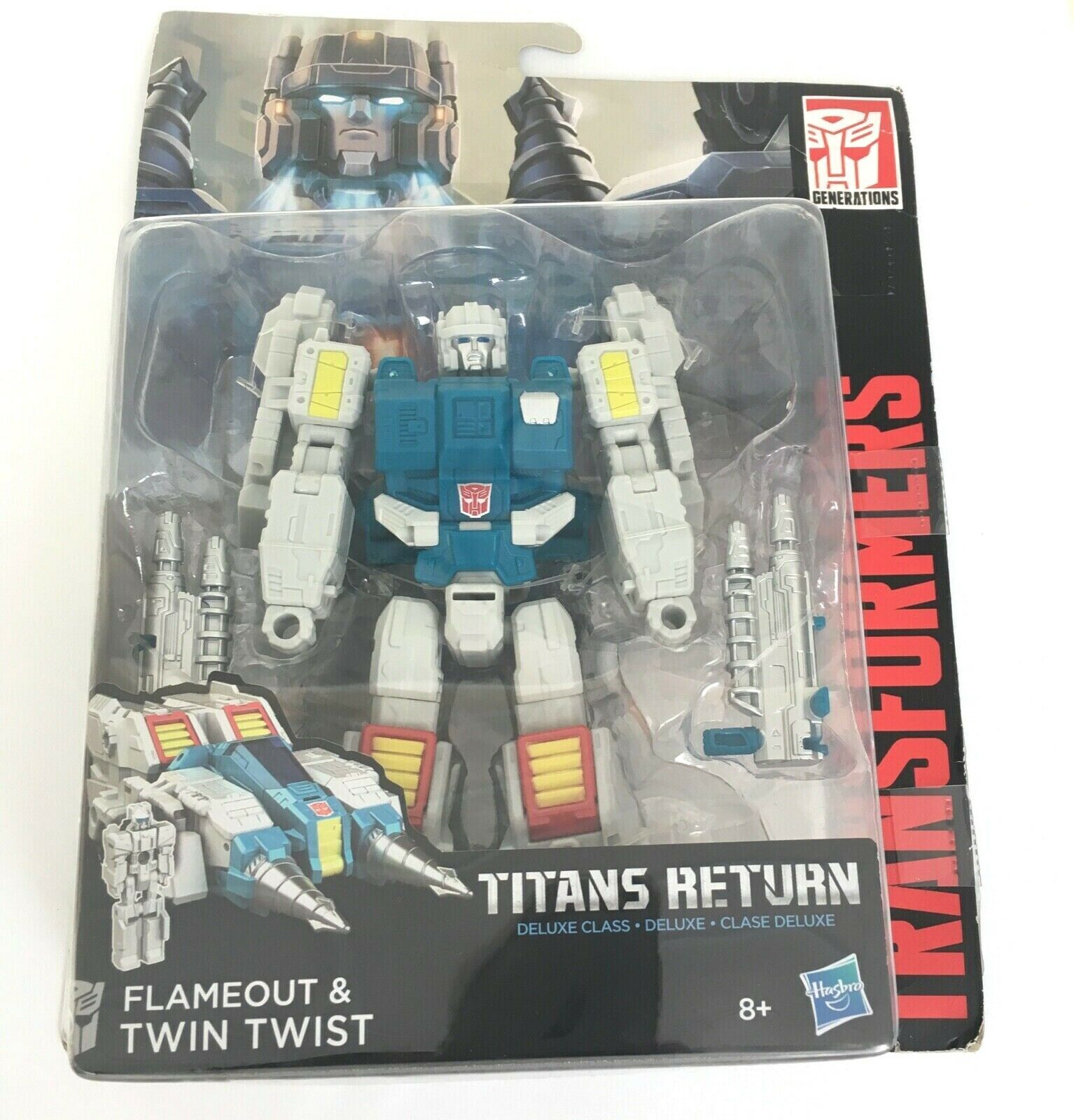 Spento & TWIN Twist TITANI restituisce Transformers Deluxe classeE Hasbro NUOVO RARO